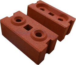 Inter-locking compressed brick system