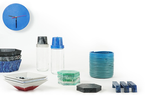 Products from recycled plastic