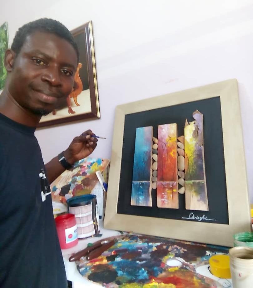 Christopher Gavi, artist in Liati Wote